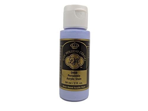 Doc Holliday Colors Acrylic Self-Sealing Craft Paint for Ceramics (2 fl oz) (DH59 - Periwinkle)