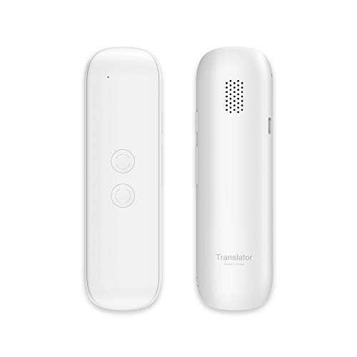 Xurpurtlk Language Translator Device Real-Time 2-Way Translations Support 72 Languages for Travelling Learning Shopping Business Chat Recording Translations Bluetooth