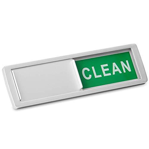 Spülmaschine sauber / schmutzig Zeichen | Magnet- oder Haftanzeiger | Spülmaschine Erinnerung | Verwirrung beseitigen | Pukkr (Silber)