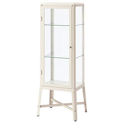 IKEA Fabrikör Gabinete de puerta de vidrio, Beige