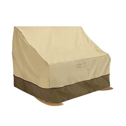 Hangarone - Funda para Silla Mecedora Doble, Fundas para sillas al Aire Libre, 420D, a Prueba de Polvo, 127 x 101 x 114 cm