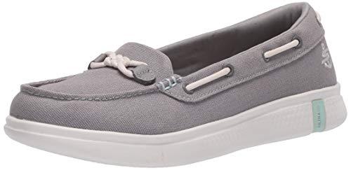 Skechers Women's Glide Ultra-Marina Boat Shoe, Gray, 5 Medium US