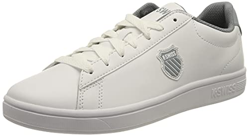 K-Swiss Herren Court Shield Sneaker, White/Tradewinds, 42.5 EU