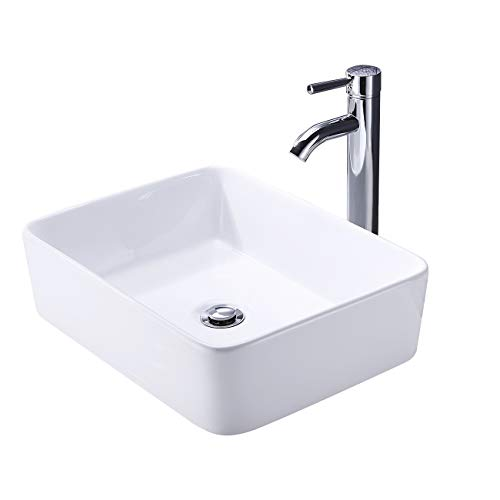 KES Bathroom Vessel Sink with Faucet and Drain Combo...