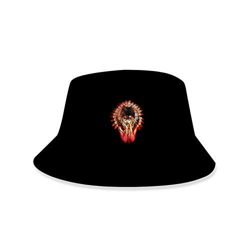 JNXFUZMG Sombrero Sombrero Estilo De Cubo Hombres Mujeres Plegable Pescador Hat Unisex Impresión 3D Indios/Brasil Carnival Playa Hat Sombrero Protección Solar Sombrero Tapa Al Aire Libre Transpirable