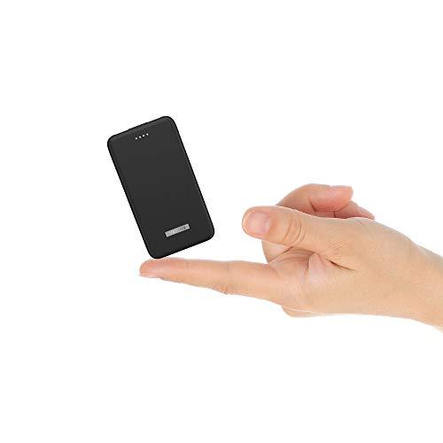 Vancely Batería Portátil 10000Mah, Dual Puertos Bateria Externa para Movil con indicador de Estado LED, Compatible con iPhon, IPA, Samsung Galaxy, Huawei Y Otros Smartphones (Negro)