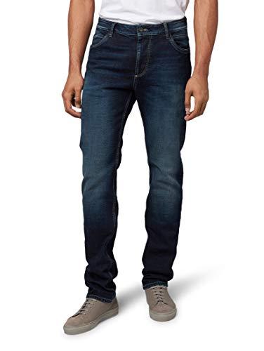 TOM TAILOR Herren Trad Relaxed Straight Jeans, Blau (Dark Stone Wash Deni 10282), 32W/32L