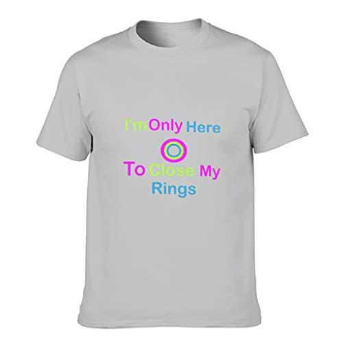 Camiseta de algodón para hombre con texto en alemán 'Ich Bin nur hier um um my Ring' Gris plateado. XXXXXL