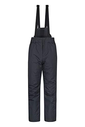 Mountain Warehouse Dusk - Pantaloni Uomo da Sci - Due Tasche, girovita Elasticizzato - Ideale Indumento da Sci, Invernale Nero L