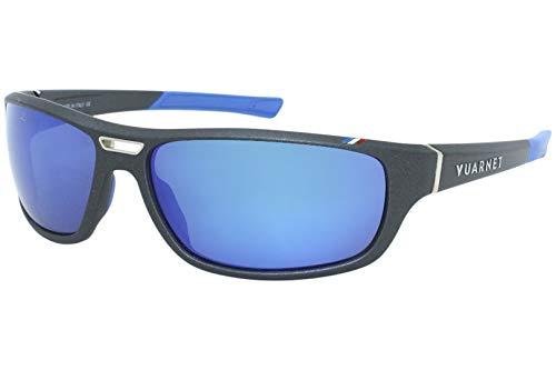 Vuarnet - Occhiali da sole Active Racing vl1918, polarizzati, con lenti a specchio blu colore 1626, colore 0008 nero