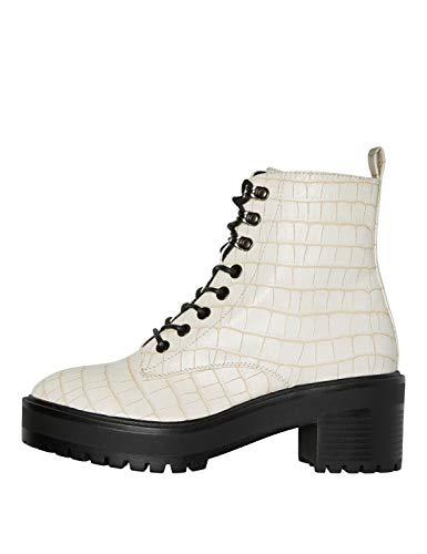 VERO MODA Damskie buty Vmtess Boots, beżowy - Birch Detail Croco - 38 EU