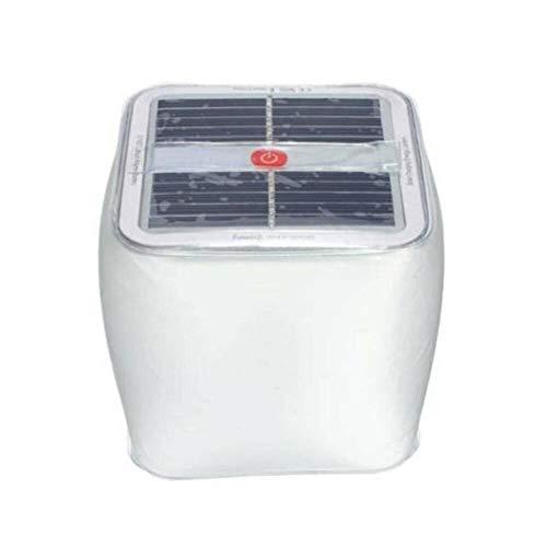 Las luces solares LED de energía solar inflable Cuaresma de luz de camping al aire libre lámpara de emergencia plegable esmerilado Plaza inflable de la lámpara ( Color : Blanco , Size : One Size )
