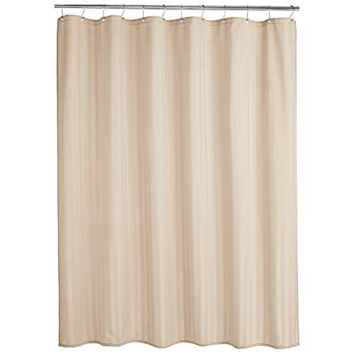 AmazonBasics - Cortina de ducha de poliéster estilo damasco, lino, 183 x 200 cm