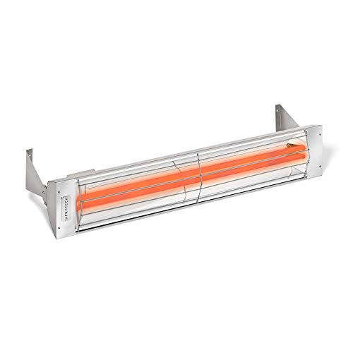 Infratech WD-Series Dual Element Stainless Steel 39' 4000 Watt Electric Outdoor Heaters
