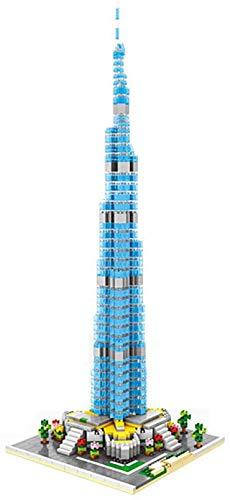 Juguetes De Bloques De Construcción para Niños - Burj Khalifa Tower City Building Models Kit De Rompecabezas 3D Regalo