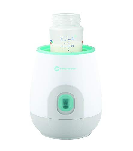 Bébé Confort Scaldabiberon Elettrico, scalda biberon e omogeneizzati in 70 secondi, Bianco con verde