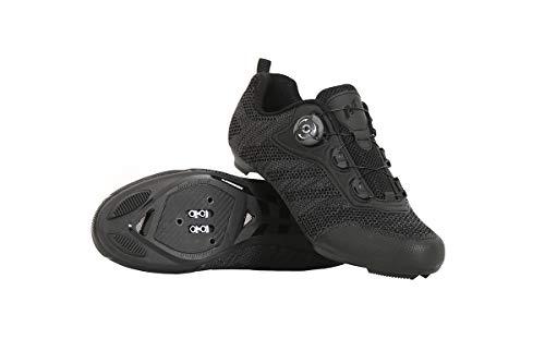Massi Zapatillas Carretera ICARO Black T.43 Ciclismo, Juventud Unisex, Negro, 43