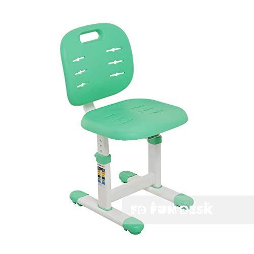 FD FUN DESK SST2 Green Höhenverstellbarer Stuhl Schreibtischstuhl für Kinder, Polypropylen, Grün, 380x360x612 732 mm