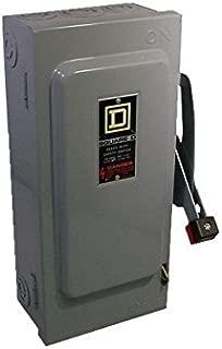SQUARE D HU362 BU 60A 600V 3P 3Ph N1 NonFused USED