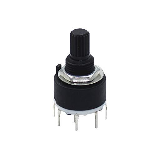 Interruptor Giratorio 1 unids SR16 Plástico 16 mm Interruptor de la Banda giratoria 2 Poste 3 4 Posición 1 Poste 5 6 8 Posición Longitud de la manija de 15 mm Interruptor de Banda de Eje