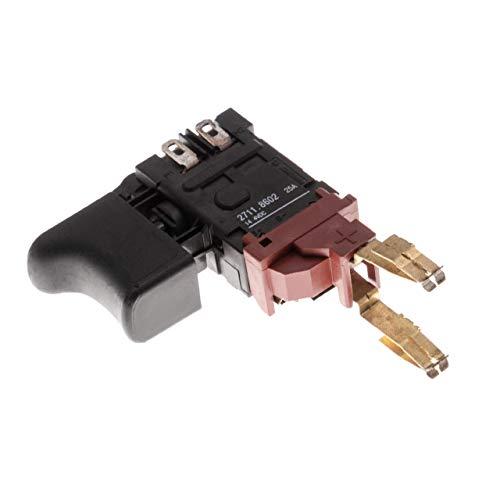 vhbw Schalter mit Taster passend für Kress 144 AFB Bohrmaschine, Akkuschrauber; 14,4V/ 25A schwarz