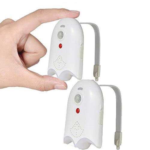 YYMM 2pcs Alojamiento Impermeable Luz de Noche, USB Recargable 16 Colores Sensor de Movimiento de iluminación de Asientos con función Lámpara de tazón de Inodoro, para Ajuste Cualquier Inodoro