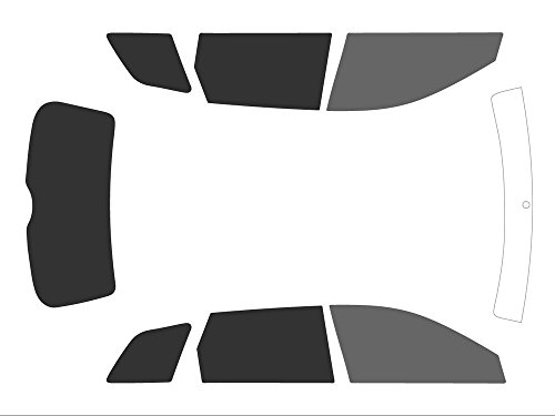 Variance Auto getinte folie voor auto, complete set, zwart (voor Black 20, achter Black 05)