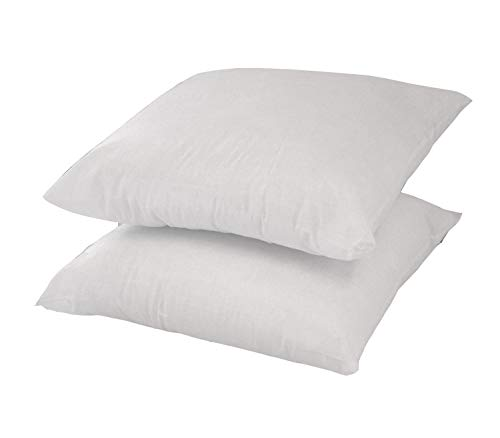 """Lancashire Bedding Premium 26"""" x 26 Hollowfibre Cushion Pads Inners – Padded from corner to corner! PACK OF 2 - MADE IN THE UK"""
