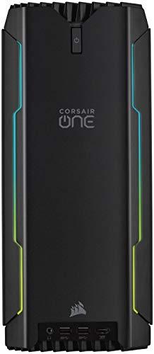 Corsair ONE i160 Kompakter Gaming-PC (Intel Core i9-9900K, NVIDIA RTX 2080 Ti mit Flüssigkühlung, SSD M.2 480GB, HDD 2TB, DDR4 32GB, Windows 10) Schwarz