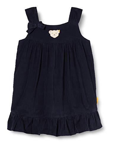 Steiff Baby-Mädchen mit süßer Teddybärapplikation Kleid, Navy, 086