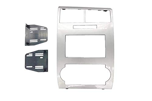 Install Double Din Factory Navigation Radio Stereo Silver Bezel Fitted For Dodge Charger 2006 2007 Dodge Magnum 2005 2006 2007