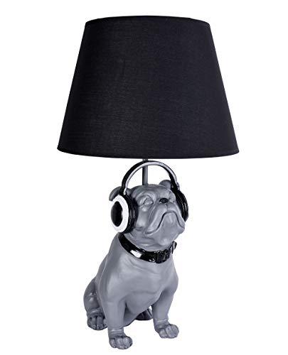 Mops Lampe Madame Carlin Tischlampe Hund Tischleuchte Bulldogge Nachttischlampe cw076 Palazzo Exklusiv
