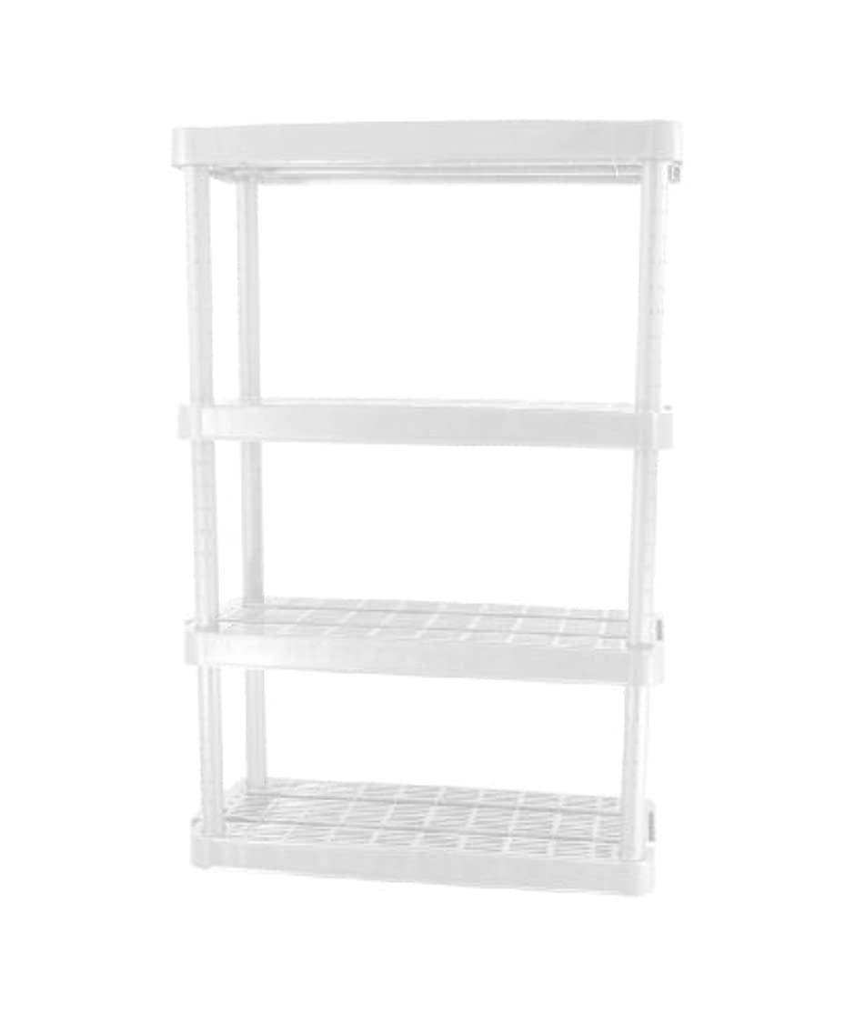 Gracious Living Adjustable 4-Shelf Medium Duty Shelving Unit