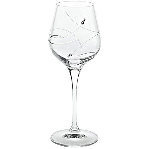 CRISTALICA Verre à Vin Collection De Calice De Vin Diamants De Style Moderne Et Unique