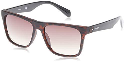 Fossil Men's FOS3066s Square Sunglasses, MATTEHAVANA, 58 mm