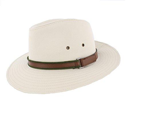 The Hat Company - Chapeau fedora pour homme - Beige - Large