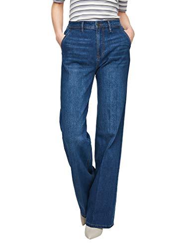s.Oliver Damen Regular Fit: Wide leg-Jeans blue 42.34