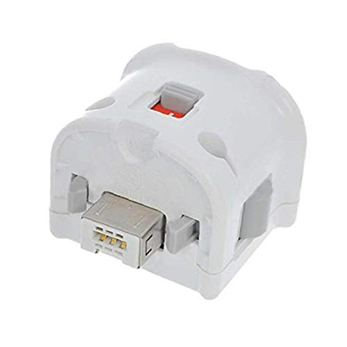 Adaptador Plus Wii Motion Plus Adaptador del Sensor Remoto para Original Nintendo Wii Mando a Distancia (Blanco)