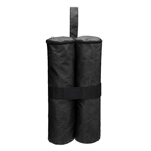 Pesas de cenador de 4 patas Accesorios de tiendas de campaña Bolsa de pesas de doble costura Bolsa de arena de fijación a prueba de viento Oxford 600D Bolsa de arena para tienda de campaña al-Negro
