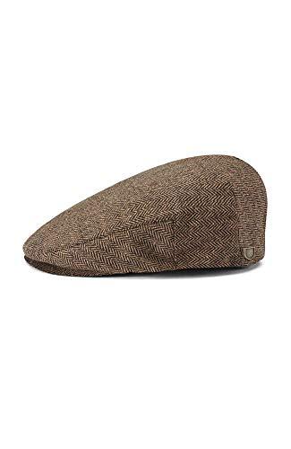 Brixton Herren Schiebermütze Hooligan brown/khaki herringbone, XL 112-00005
