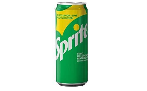 72x Sprite Limone Lime Zitronengetränk Limette Dosen 330ml kohlensäurehaltiges Getränk alkoholfreies Getränk mit wenig Zucker