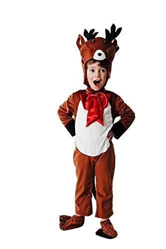 Costumizate!. Costume di Renna per Bambini Taglie Diverse Speciale per Natale