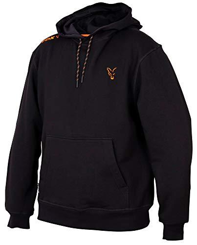 Fox Collection Black Orange Hoody - Angelpullover, Größe:XXXL