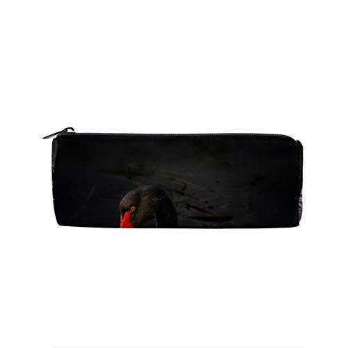 Estuche para lápices de agua de cisne negro australiano con cremallera, soporte para bolígrafo, papelería escolar, maquillaje de gran capacidad, para adolescentes, niños, niñas, oficina, viajes