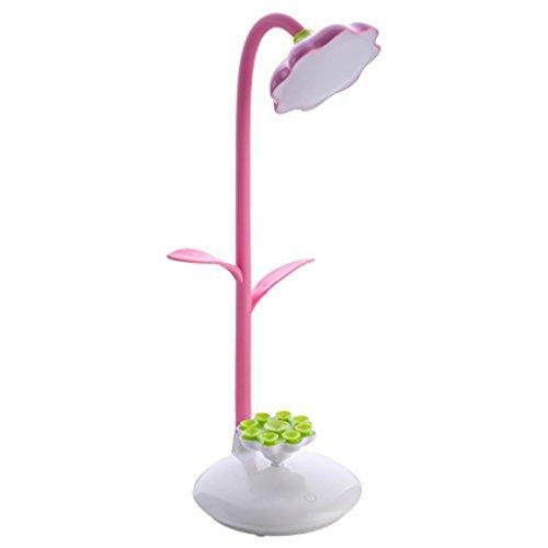 Mia nbaoshu Dimmbare verde LED Lámpara de escritorio para niños, Noche Lámpara de mesa con sensor táctil, per USB recargable de lectura flexible y 360 grados giratorios de soporte móvil