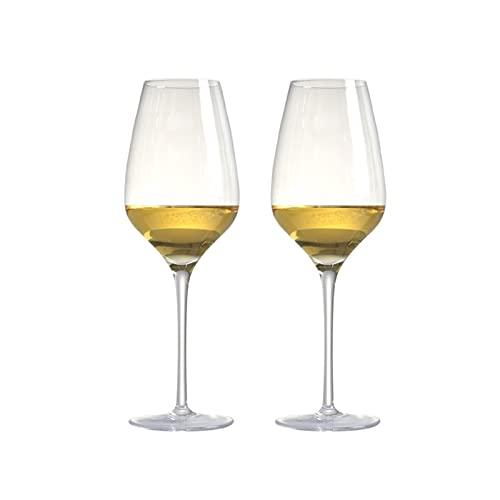 chenchen Conjunto de 2 19.3 onzas Hecho a Mano Florada de Plomo Sin Copa de Cristal Vino Tinto Vino Blanco Ajuste para la Boda de Fiesta 570ml (Capacity : 570ml 19.3oz 2PCS)