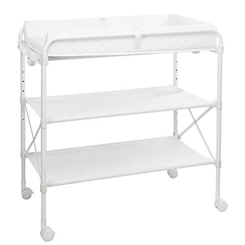 Table à Langer Rangement BéBé Unité De Baignoire Station De Travail Dresser Pliable Multifonction Pliable Table De Traitement De Massage