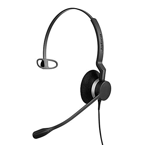 Jabra Biz 2300 QD Mono langlebiges Call-Center-Kabel-Headset mit Noise-Cancelling für Unify OpenStage