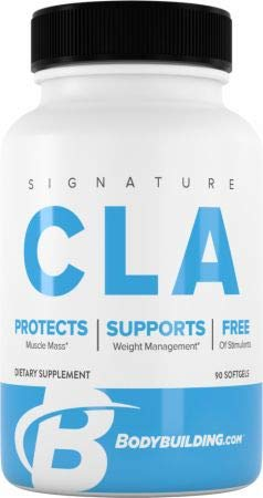Bodybuilding Signature CLA Softgels | 1,000 MG Fat Loss Supplement, Maintain Lean Muscle | 90 Servings