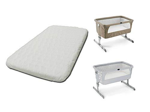 1stopbabystore - Materasso deluxe per culla Chicco Next2Me, Next to Me, comodo materasso per neonati con angoli, traspirante e lavabile, con cerniera, 83 x 50 x 6 cm